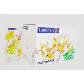 Набор Luminarc CRAZY FLOWERS /270X6 стаканов выс.