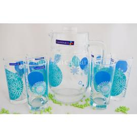 Комплект Luminarc GRAPHIC FLOWERS BLUE /7пр.