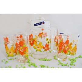 Комплект Luminarc POP FLOWERS ORANGE /7пр.
